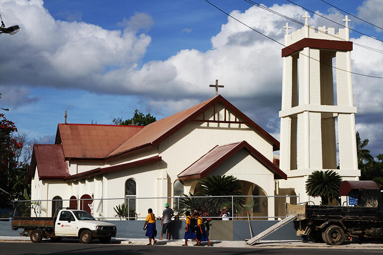 The newly refurbished St Paul's Church, Nuku'alofa.