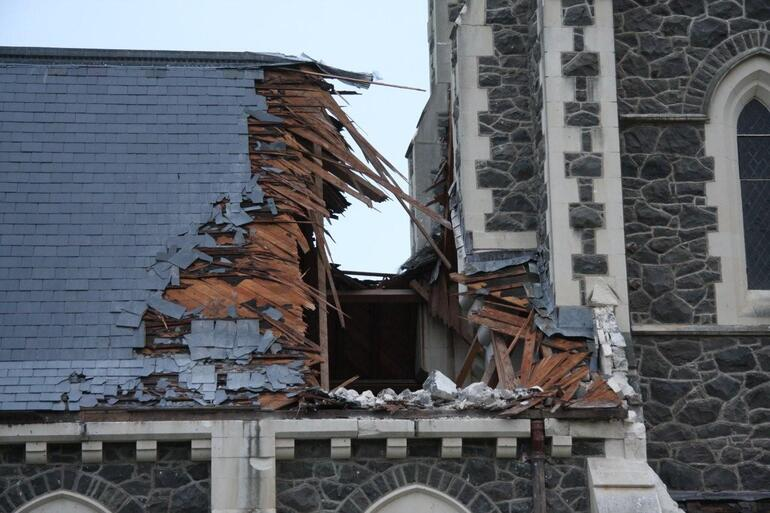 St John's Hororata – after the first quake, last September. Future quake cover for churches is increasingly hard to get.