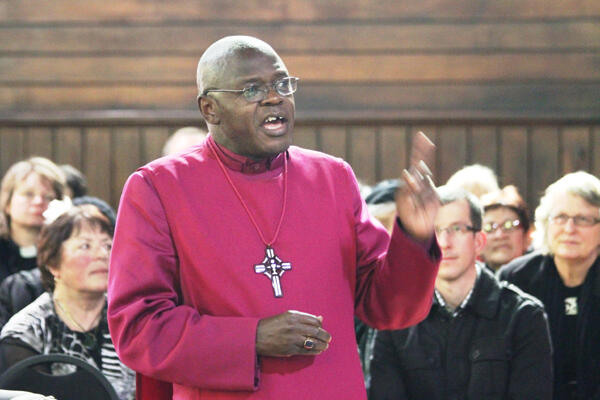 Archbishop John Sentamu also presented the Reeves family with a compass rose flag, and an embossed silver salver.