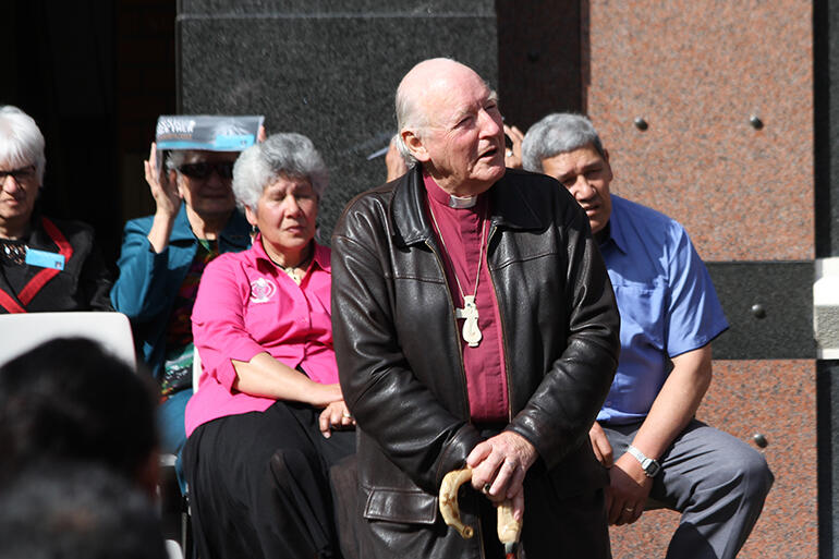 Bishop George Connor, who was the lead speaker for the tangata whenua.
