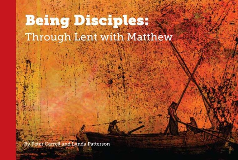 """Being Disciples"": The cover to a new Lenten study booklet drawing on Matthew's Gospel."