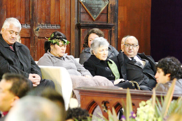 For more than an hour, the Governor General and his wife sat in the sanctuary alongside Sir Paul and his family.