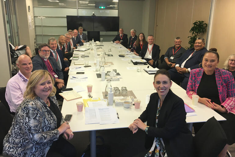 Archbishop Philip Richardson joined a church leaders' meeting on social policy with Prime Minister Jacinda Ardern yesterday.