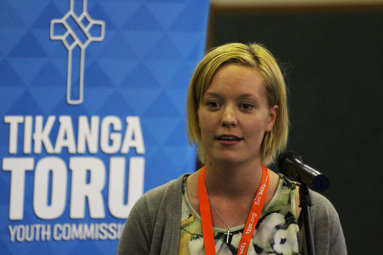 That's Kristy Boardman, who is the Chairperson of the Tikanga Toru Youth Commission.