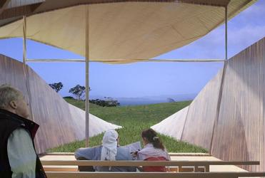 An architect's impression of the view from within The Gathering Place.