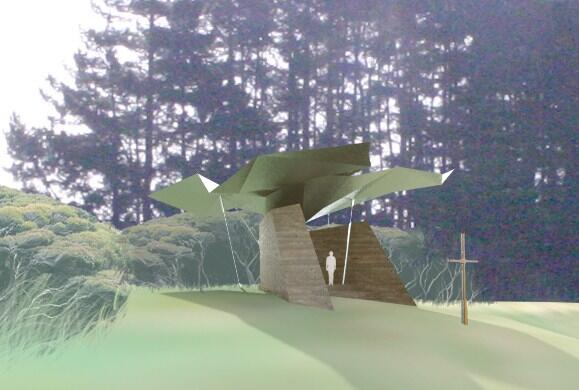 An artist's impression of The Interpretive Centre, which has been designed by Cheshire Architects.