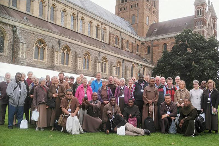 Society of Saint Francis First and Third Order meet in High Leigh, UK.