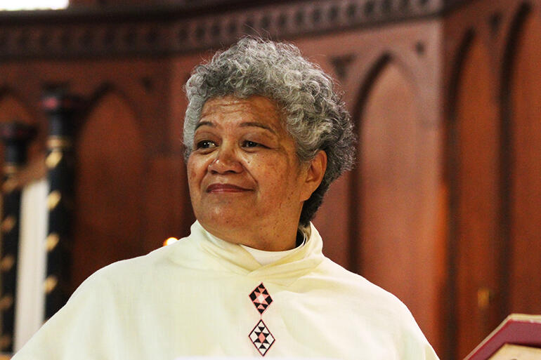 Rev Jacynthia Murphy is the Pirihi Awhina (supporting priest) at Holy Sepulchre.