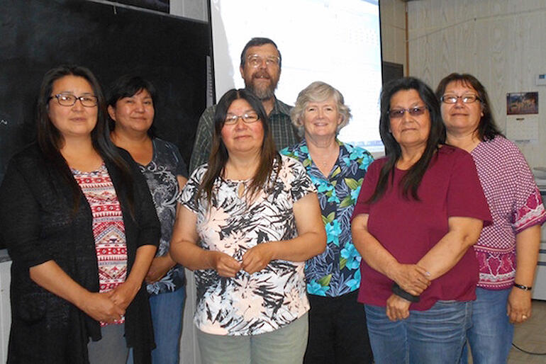 Oji-Cree Bible team members set out on their translation journey.