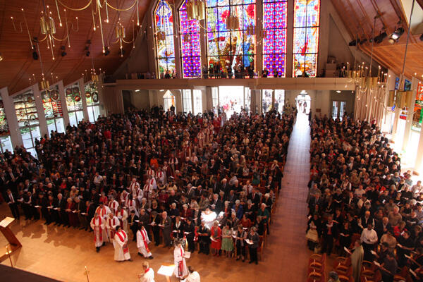 Holy Trinity Cathedral, Parnell, is packed for the ACC's opening Eucharist.