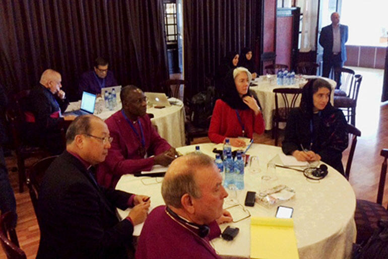 The Anglican delegation at the Christian - Muslim Summit in Tehran, Iran.