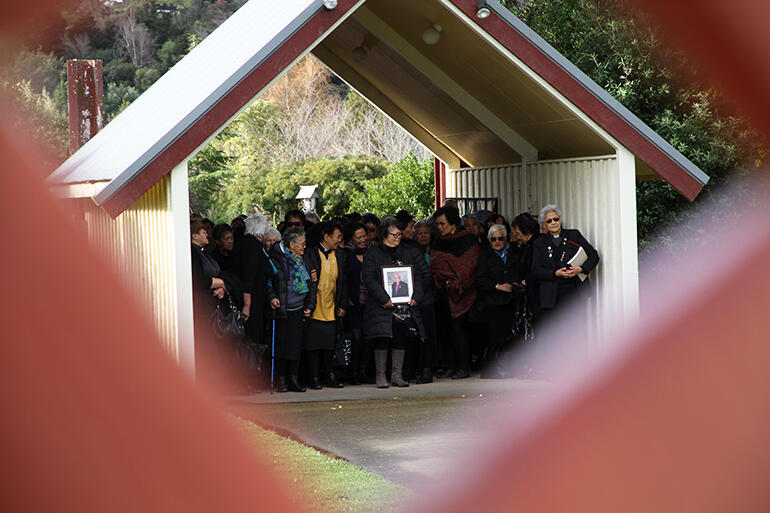 Waiting to be called on to Whakatu Marae.