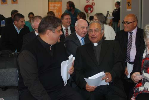 Rev Don Tamihere chats with the Ven Dr Te Waaka Melbourne who has spent the last 13 years as a volunteer on the reformatting project