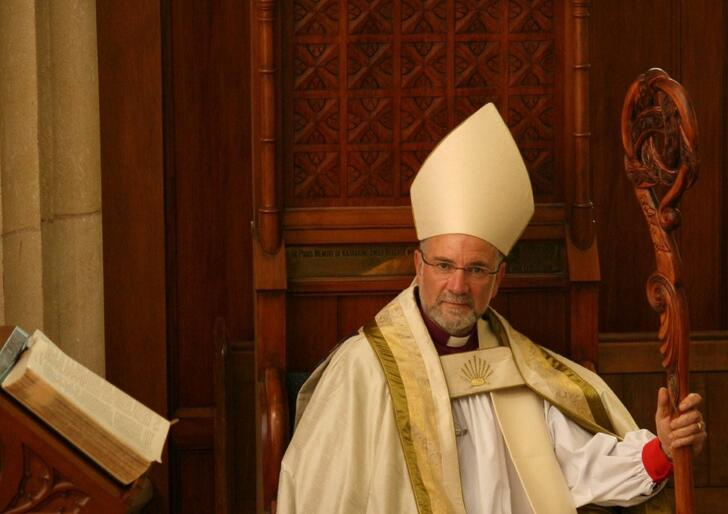 The new Anglican Bishop of the Diocese of Dunedin, The Rt Rev Dr Kelvin Wright.