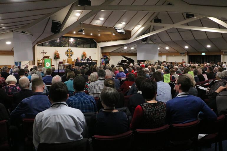 Friday night: synod remains undecided with reinstate and replace options running neck to neck.