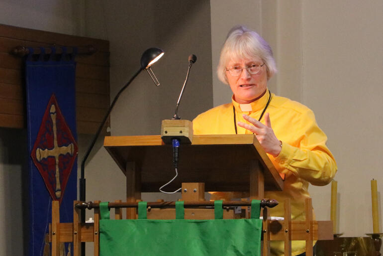 Glenda Hicks challenges synod to consider the cost of reinstatement.
