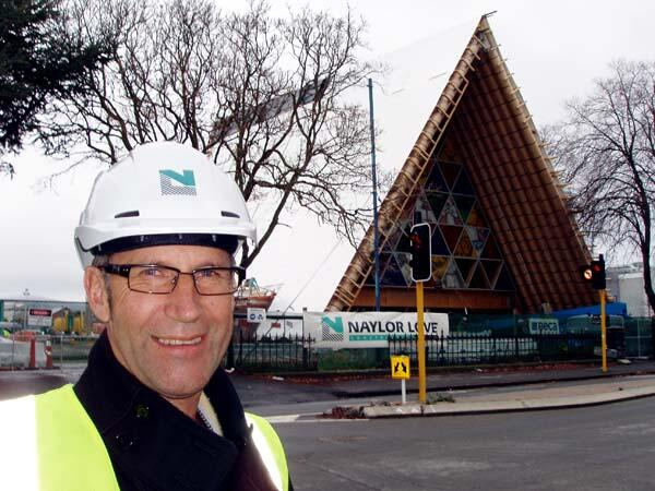 The Rev'd Craig Dixon: at 58, still game to tote a nailgun on the cardboard cathedral building site.