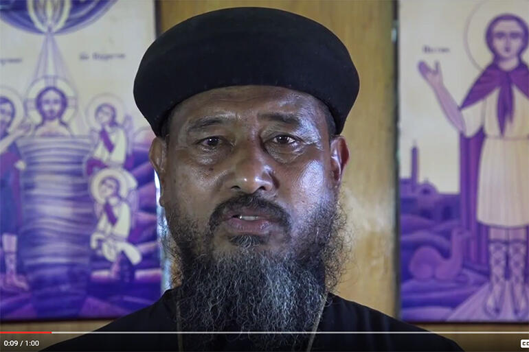 Screen grab: Fr Anthony Lemuela, of the Coptic Orthodox Church in Fiji. He's one of the church leaders in the TV campaign.