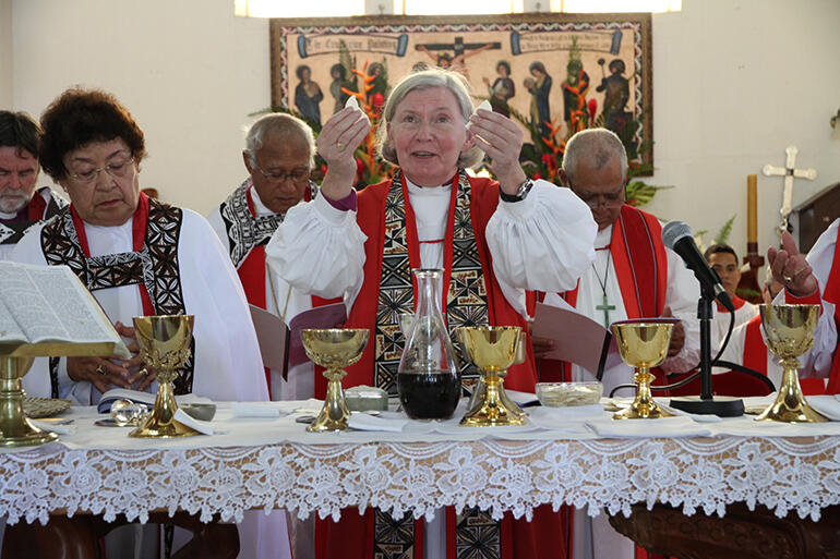 Bishop Victoria celebrated with Bishop Richard Wallace.
