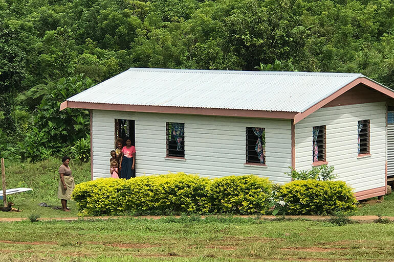 One of the new homes, which was built on the site of a house wrecked by Cyclone Winston.