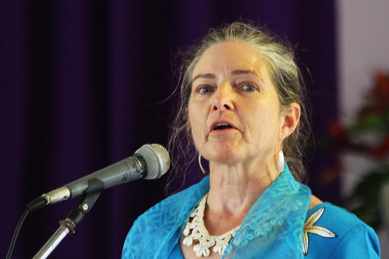 Professor Beth Holland, who leads the Pacific Centre for Environment and Sustainable Development.