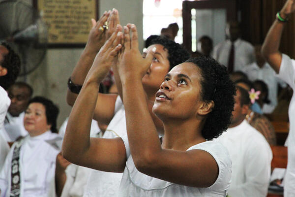 Once again, the young people of the Diocese of Polynesia played a prominent role in the service.