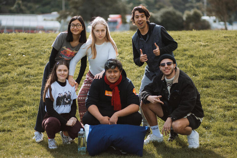 Young Anglicans line up at The Abbey, the 2019 Tikanga Pākehā youth ministry leadership conference at 'Living Springs'