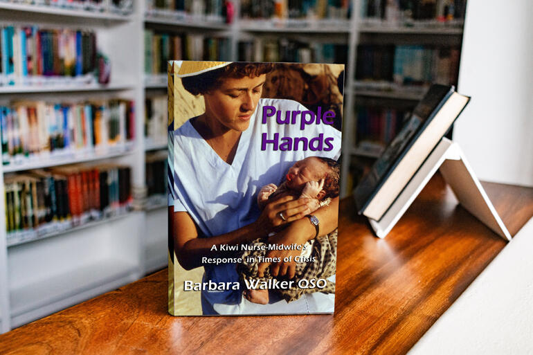 Nurse midwife and present-day hospital chaplain Barbara Walker has recounted her extraordinary life story in her new book, 'Purple Hands'.