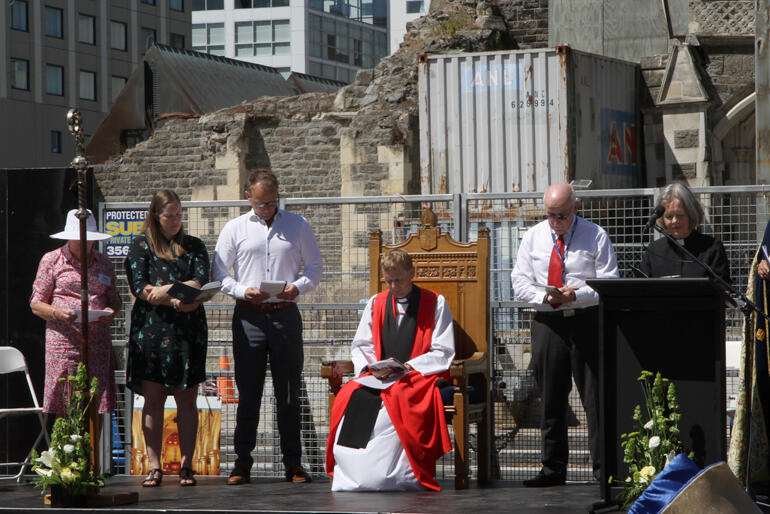 Archdeacon Nicky Lee prays for the church and the world.