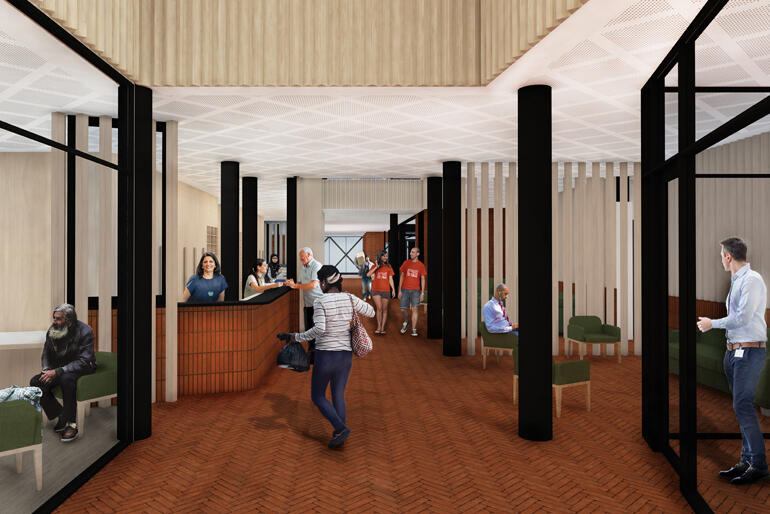 Inside HomeGround will be a hub for  wrap around services for vulnerable Aucklanders: in housing, nutrition, health and wellbeing.
