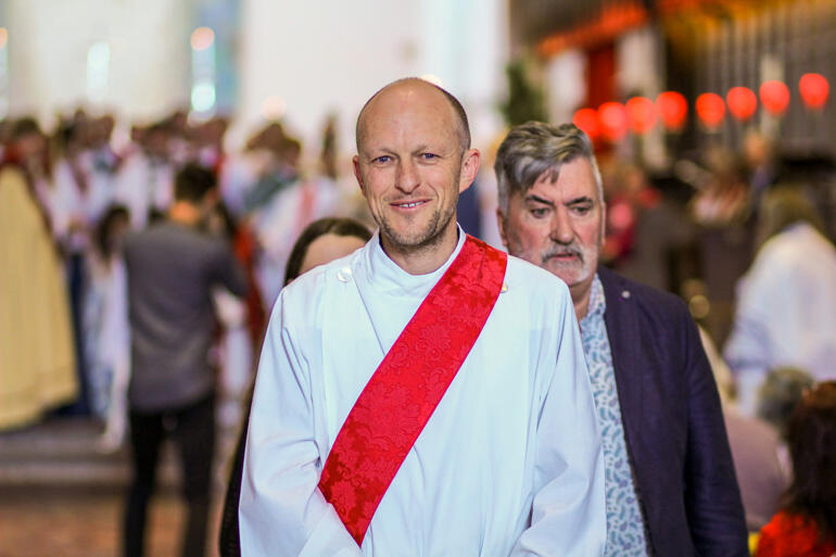 Rev Andy Hickman from All Saints' Palmerston North was ordained priest on Saturday.