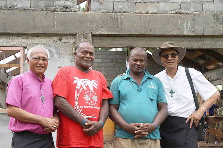 +Winston, Robert - and Peni Waqamaira (red shirt) and Waisea Bogi, who will be ordained deacons on Christmas Eve.