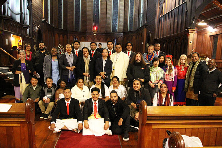 Group shot of the WCC Indigenous Global Ecumenical Gathering.