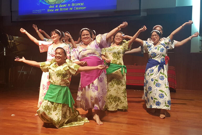 Delegates at the Asian Women's Ecumenical Assembly in Taiwan this November share a cultural tradition of narrative dance.